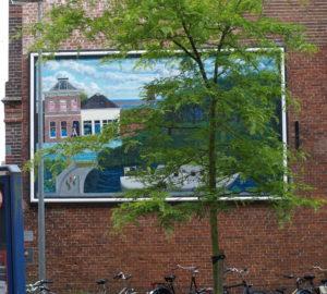 Muurschildering Poortershoes Groningen